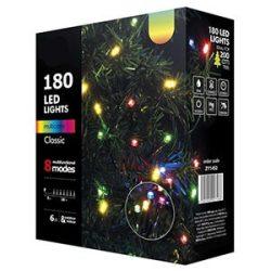 Karácsonyi fényfüzér 180LED 6W 18m+5m IP20 többszínű, 8 funkció