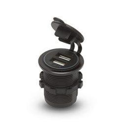 Szivargyújtó helyére beépíthető USB aljzat, gumi kupakos