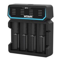 XTAR D4 négycsatornás Li-ion akkumulátor töltő, töltésjelzőkkel