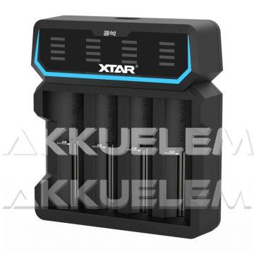 XTAR D4 négycsatornás hálózati Li-ion akkumulátor töltő