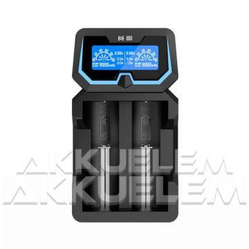 XTAR X2 Li-ion/Ni-MH két csatornás hálózati/USB-s akkumulátor töltő