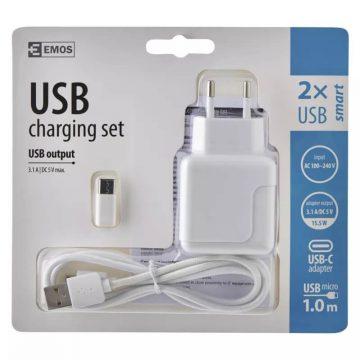 Adapter USB-C / micro-USB 3.1A V0119