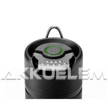 GP Design PSR52 10W 1050lm taktikai lámpa Cree XP-L LED, 18650 akku + töltő