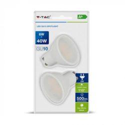 V-TAC 6W 500lm 3000K LED-izzó 2 db/csomag