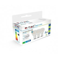 V-TAC 5W GU10 400lm 4000K LED-izzó 3 db/csomag