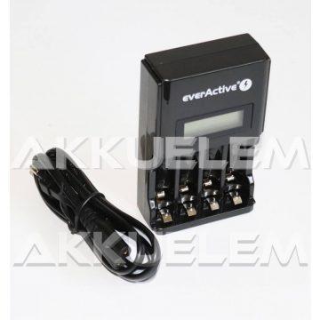 everActive NC-450 AA AAA Ni-MH akkumulátor töltő négycsatornás