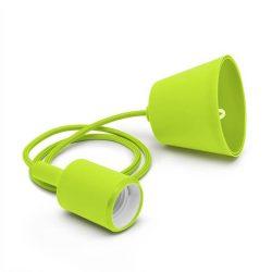 Függő lámpatest E27 zöld, 1 m
