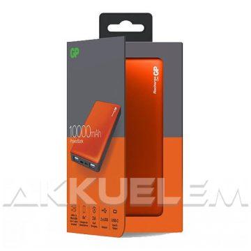 GP PowerBank Li-po 10000mAh külső akkumulátor 3A, narancs színű, USB, USB-C