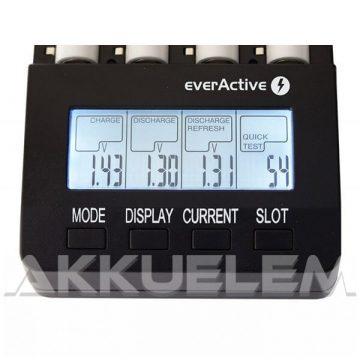 everActive NC-3000 AA AAA elemméretű akkumulátor töltő 1,4A