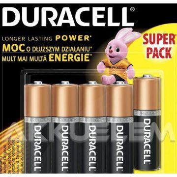 Duracell Basic Duralock MN1500 LR6 AA elem 5db-os csomagban