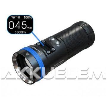 XTAR D36 5800lm búvárlámpa szett (3500mAh akkupakk, adapter, koffer)