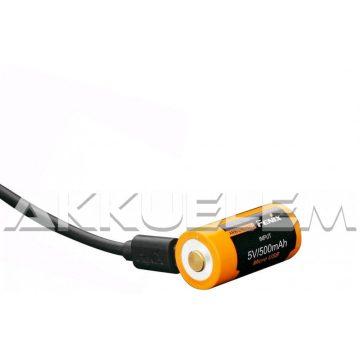 FENIX 16340 700mAh 3,6V Li-ion akkumulátor + beépített töltő, microUSB csatlakozó