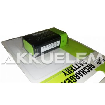 9V 400mAh Green Battery Li-polymer elem méretű akkumulátor