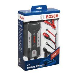 Bosch C3 autó akkumulátor töltő 6V/12V 0,8/3,8A