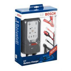 Bosch C7 autó akkumulátor töltő 12V/24V 1,5/3,5/5/7A