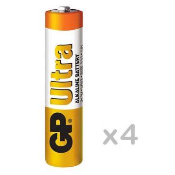 GP Ultra Alkaline LR03 AAA tartós elem 4db/bliszter (ár/db)