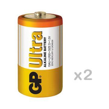 GP Ultra Alkaline LR20 D tartós elem 2db/bliszter (ár/db)