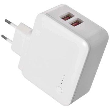 Adapter USB töltő powerbankkal +lámpa 2.4A 12W V0118