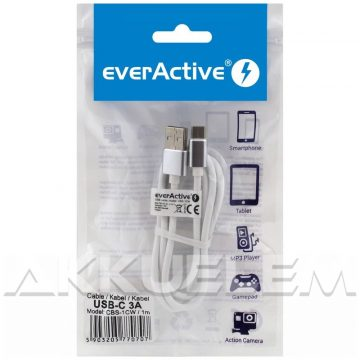 everActive USB-C kábel 3A 1m FEHÉR