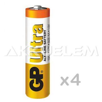 GP Ultra Alkaline LR6 15AU AA tartós elem 4db/bliszter (ár/db)