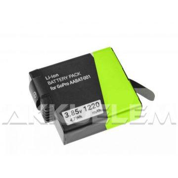 Titan Energy GoPro Hero5, Hero6, Hero7  1250mAh utángyártott akkumulátor AABAT-001