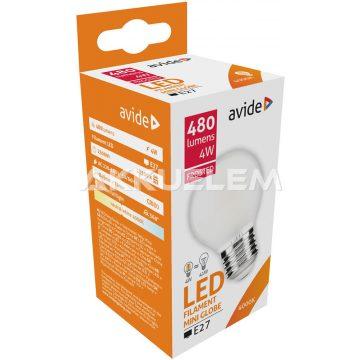 Avide Frosted Filament Mini Globe E27 4W 480lm 4000K LED-izzó 3év gar.