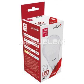 Avide Globe E27 A60 8W 640lm 3000K LED-izzó 3év gar.