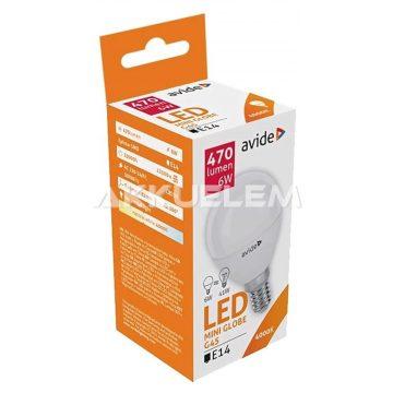 Avide Globe Mini G45 E14 6W 470lm 4000K LED-izzó 3év gar.