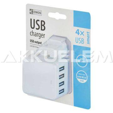 4xUSB hálózati töltő adapter 6,8A DC5V V0117