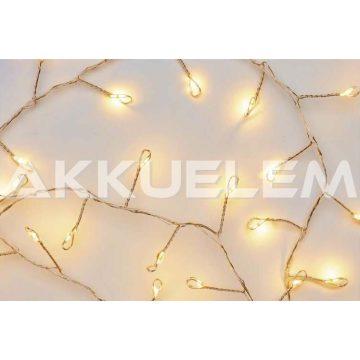 Karácsonyi fényfüzér 100LED arany 2,4m 0,9W 3AA
