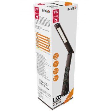 Avide Irodai CLAUDE 7W 450lm lámpa bőrhatású naptár BARNA