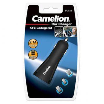 Camelion autós USB adapter 2x5V/2,1A USB 12V/24V
