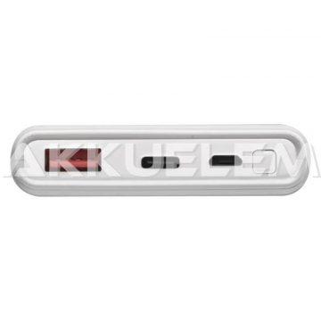 Külső akkumulátor USB-C 10000mAh fehér