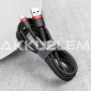 Baseus USB Type-C  kábel 50cm 3A-ig gyors 480Mbps-ig