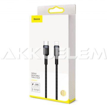 iPhnone USB-C kábel 2A, 1m, vászon borít. Baseus