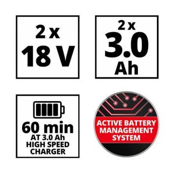 Einhell Power X-Change Starter Kit szerszámgép akkuk + töltő 18V 2x3Ah