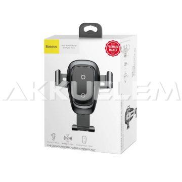 Baseus telefontartó vezeték nélküli töltővel, szellőzőrácsra rögzíthető WXYL-B0A