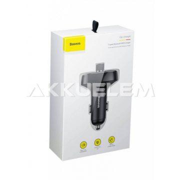 Baseus autós töltő Bluetooth zenelejátszó CCALL-TM01