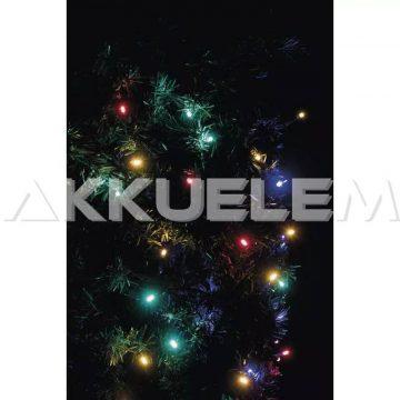 Karácsonyi fényfüzér 100LED karácsonyi 10m IP44 lánc multicolor CNT