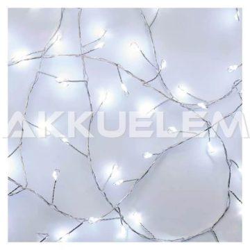 Karácsonyi fényfüzér 100LED nano 2,4m 3AA CW