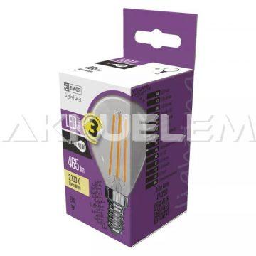 Classic E14 465lm 4W 40W 2700K 320° LED Filament kisgömb A++ COB LED-izzó