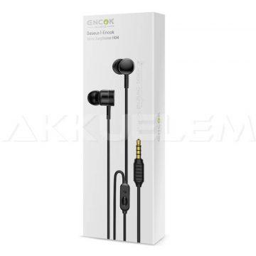Baseus fülhallgató mikrofonnal fekete 110dB Encok HGH04-01