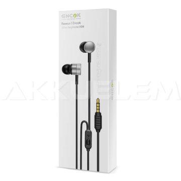Baseus fülhallgató mikrofonnal ezüst 110dB Encok HGH04-0s