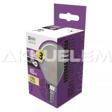 Classic E14 465lm 4W 40W 2700K LED Filament WW kisgömb A++ matt LED-izzó