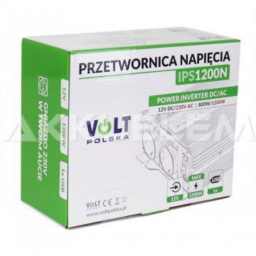 Volt Polska IPS1200 trapéz inverter 12V 750W1000W