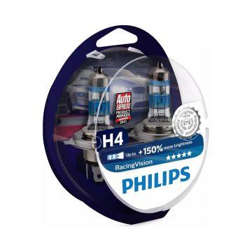 Philips Racing Vision H4 12V 60/55W autó fényszóró izzó (2db/bliszter)