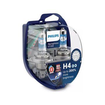 Philips Racing Vision H4 12V 6055W GT 200% autó fényszóró izzó (2db/bliszter)