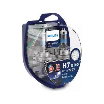 Philips Racing Vision H7 12V 6055W GT 200% autó fényszóró izzó (2db/bliszter)