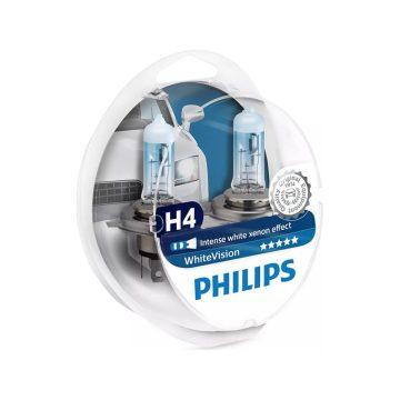 Philips WhiteVision H4 12V 6055W autó fényszóró izzó W5W (2db/bliszter)
