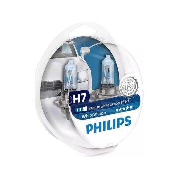 Philips WhiteVision H7 12V 6055W autó fényszóró izzó W5W (2db/bliszter)